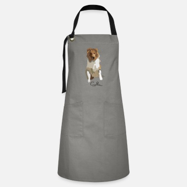 Long Hair Collie Collie rough long hair collie - Artisan Apron