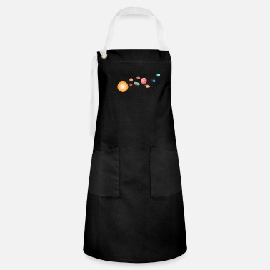 Moon Landing Outer Space Funny Flat Earth Science Planets - Artisan Apron