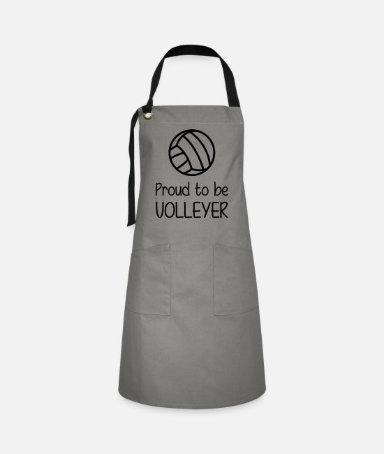 Play Aprons - Proud to be Volleyer - Artisan Apron grey/black