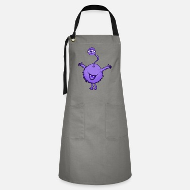 Laugh Monster purple with one eye - Artisan Apron