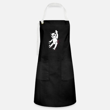 weird teddy bear - Artisan Apron