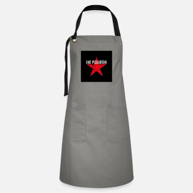 01 No Pasaran star mask face mask black red - Artisan Apron