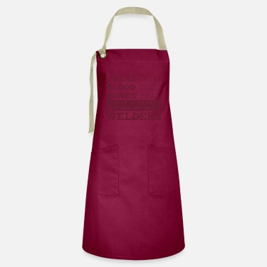 Iron-for-ironing Sweat Blood Bones Funny Welding Gift Sc - Artisan Apron