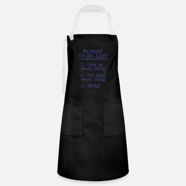 Dumbbells Workout to do list Fitness Gift Gym Sport - Artisan Apron