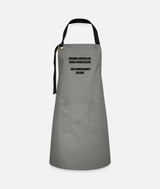 Drinking Aprons - Stop crying - Artisan Apron grey/black