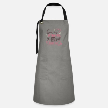 Christian God Is Within Her, She Will Not Fall Psalm 46.5 - Artisan Apron