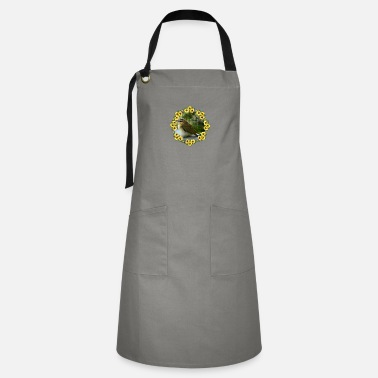 Birds in a wreath of flowers - Artisan Apron