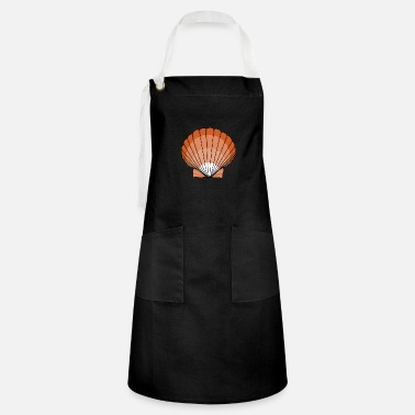 Summery orange shell from the beach - Artisan Apron