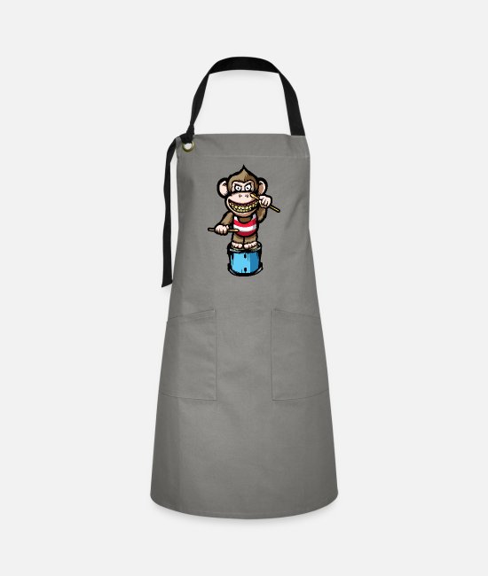 Monkey Aprons - Ape Drums - Artisan Apron grey/black