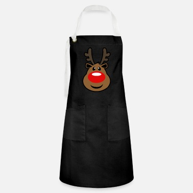 Rudolph, the red nosed Reindeer Christmas design - Artisan Apron
