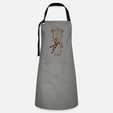 Snowman Polar bear with snowman - Cute - Gift - Kids - Artisan Apron