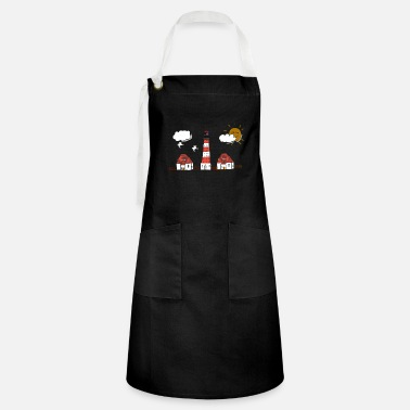 Westerhever lighthouse drawing - Artisan Apron
