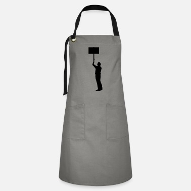 Protest protester - Artisan Apron