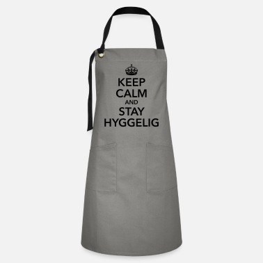 Scandinavia keep calm and stay hyggelig feeling happy - Artisan Apron