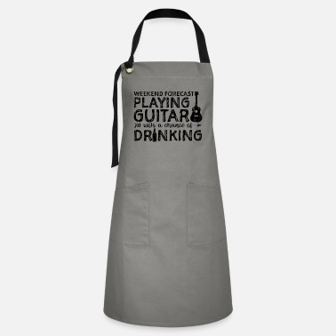 Electric Guitar Weekend Forecast Playing Guitar With A Chance Of D - Artisan Apron