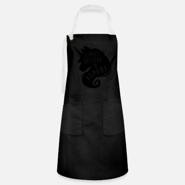 I don´t believe in humans - unicorn - Artisan Apron