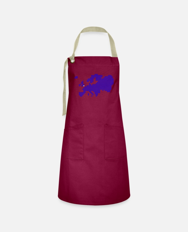 Great Britain Aprons - London Oxford Brighton - Artisan Apron burgundy / desert sand