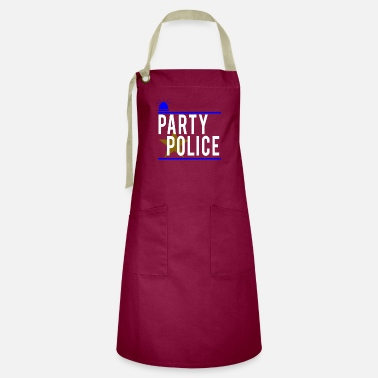 Novelty Party Police Funny Novelty Security - Artisan Apron