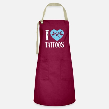 I love tattoos. Great shirt for studios - Artisan Apron