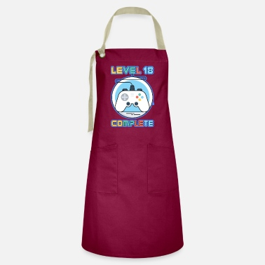 Check Video Gamer Gift Level 18 Complete Video Game - Artisan Apron