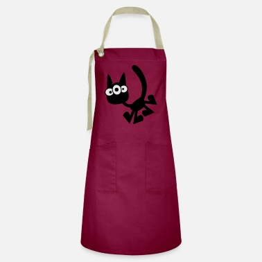 Three-Eyed Cartoon Cat Vector Graphic by Cheerful - Artisan Apron