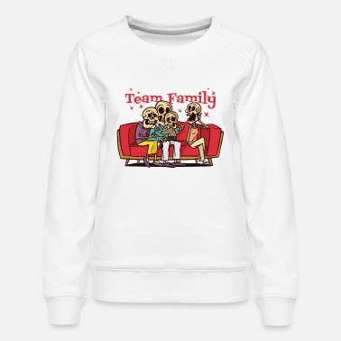 Crest family fun christmas tree family day - Women's Premium Sweatshirt