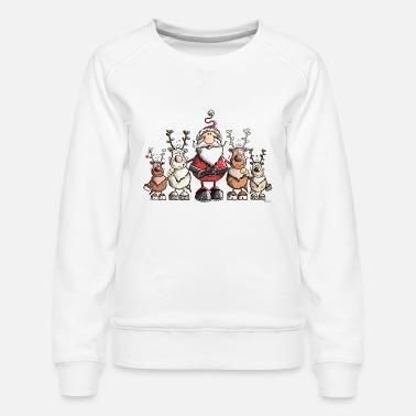 Bulldog Francese Ginger Babbo Natale Decorazione di Natale-T-Shirt da Baseball di Cotone