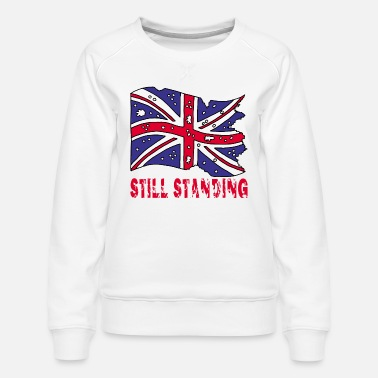Revolver Torn english flag - Women's Premium Sweatshirt