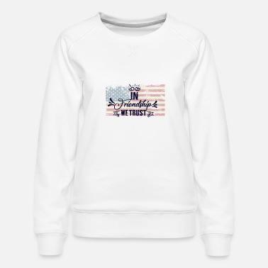 trust with flag 5 000px - Frauen Premium Pullover