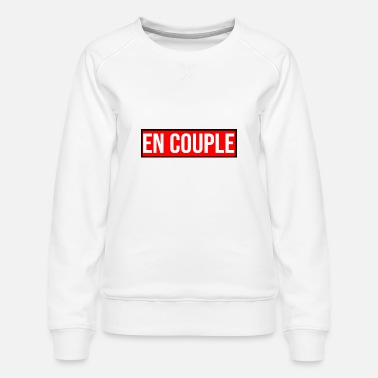 I Love en couple logo je t'aime - Sweat ras-du-cou Premium Femme