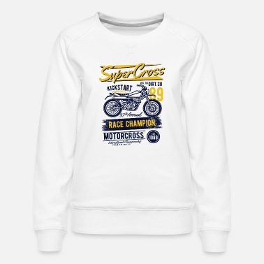 Collection Super Motocross - Sweat ras-du-cou Premium Femme