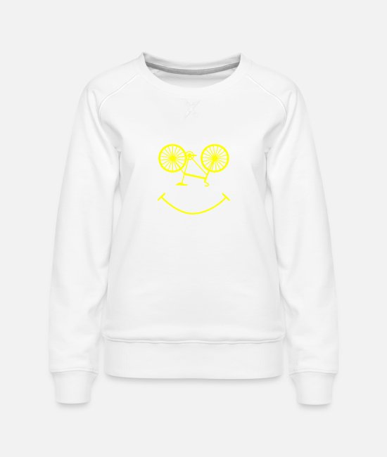 Biker Hoodies & Sweatshirts - Smile bike gift Bicycle Ride Bike - Women's Premium Sweatshirt white