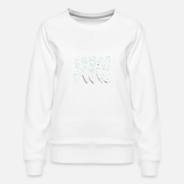 Sign Zodiac signs, night sky, mountains, stars, planets - Women's Premium Sweatshirt