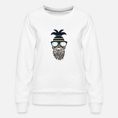 Glass Underwear Funny perfect hipster pineapple - Women's Premium Sweatshirt