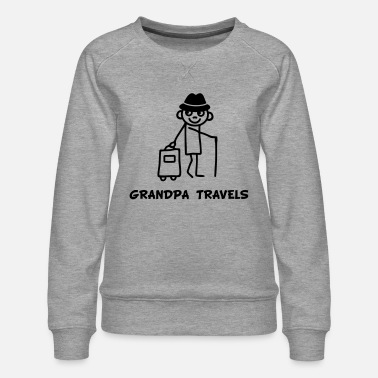 Grandpa travels - Women's Premium Sweatshirt