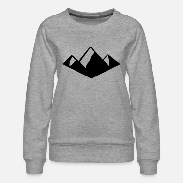 Alps Ski Mountains, Alps, Berge, Alpen, Ski, Hiking - Dame premium sweatshirt