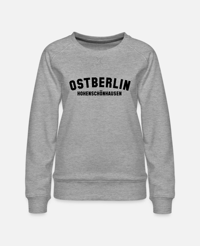 GDR Hoodies & Sweatshirts - HOHENSCHÖNHAUSEN - Women's Premium Sweatshirt heather grey