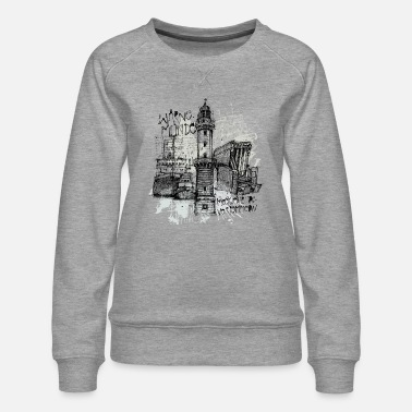 Mer Baltique Collage de Rostock Warnemuende - Sweat ras-du-cou Premium Femme