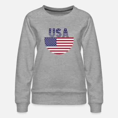 Usa USA - Women's Premium Sweatshirt