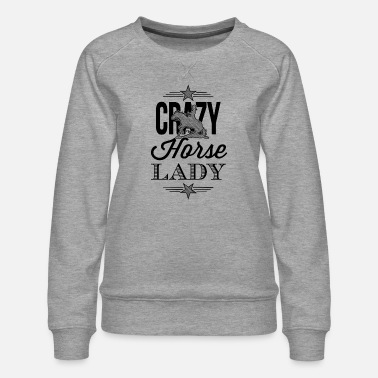 Crazy Horse Lady - Western riding - black edition - Women's Premium Sweatshirt