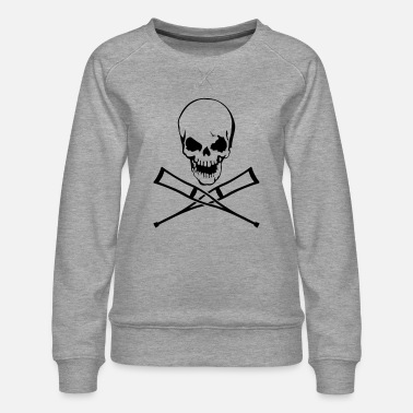 Crutches Skull with crutches - Women's Premium Sweatshirt