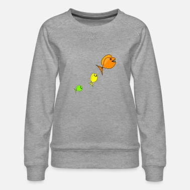 Ørred fish277 - Dame premium sweatshirt