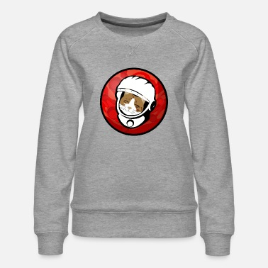 Red Planet Cosmos Galaxy Space Cat - Women's Premium Sweatshirt