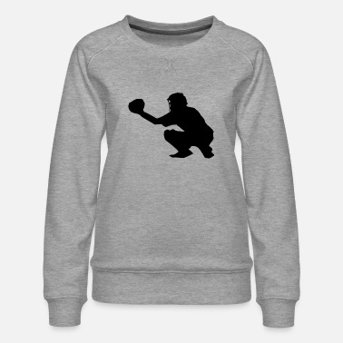 Catcher Softball Sport - Vrouwen premium sweater