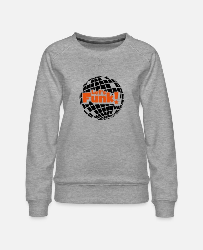 Blaxploitation Hoodies & Sweatshirts - Discoball - Women's Premium Sweatshirt heather grey