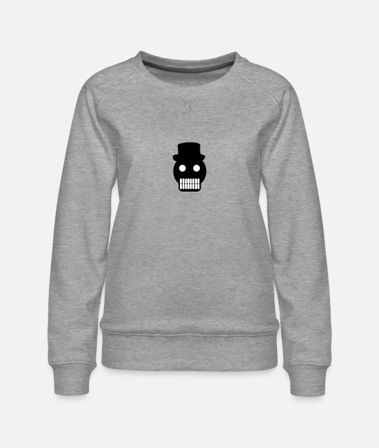 Headphones Hoodies & Sweatshirts - head - Women's Premium Sweatshirt heather grey