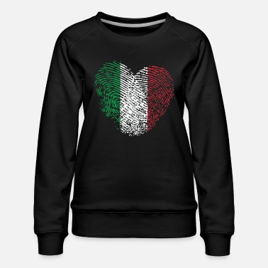 Italian Italy in my DNA: italy Heart - Women's Premium Sweatshirt