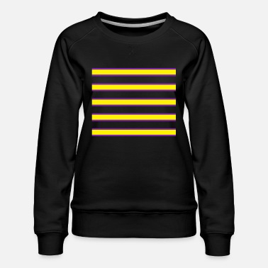 Strip Violet and Yellow pattern custom printing clothes - Women's Premium Sweatshirt