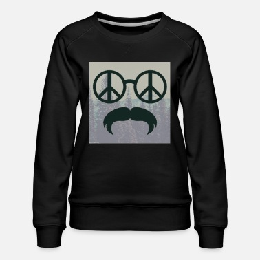 Glass Underwear great hipster beard beard glasses love peace hippie - Women's Premium Sweatshirt