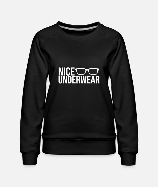 Deep Throat Hoodies & Sweatshirts - Nice underwear - Women's Premium Sweatshirt black
